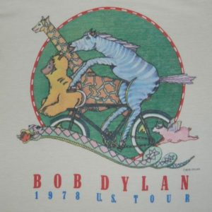 Vintage 1978 BOB DYLAN Tour T-Shirt 70s concert original
