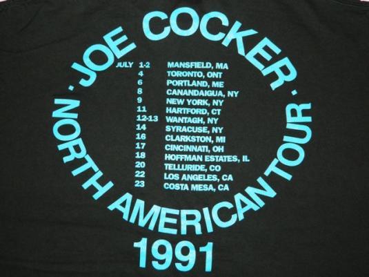 vintage JOE COCKER LIVE 1991 TOUR T-Shirt concert 90s