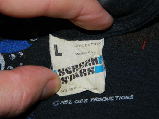 Vintage OZZY OSBOURNE 1982 Tour T-Shirt 80s Concert