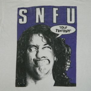 Vintage SNFU 80s EUROPEAN TOUR TANTRUM? T-Shirt Original