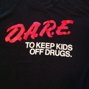 Vintage D.A.R.E. TO KEEP KIDS OFF DRUGS T-Shirt 80s dare