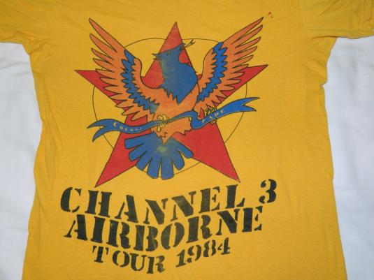 Vintage RARE! CHANNEL 3 1984 TOUR T-Shirt PUNK ROCK CH3