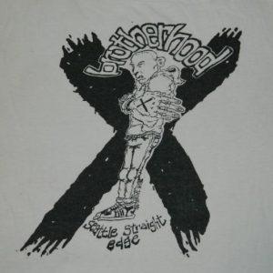 Vintage BROTHERHOOD SEATTLE STRAIGHT EDGE T-Shirt sXe judge