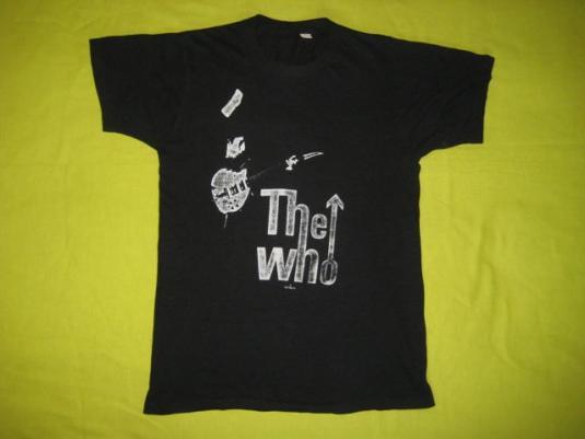 vintage THE WHO 1979 CONCERT T-Shirt tour 70s original
