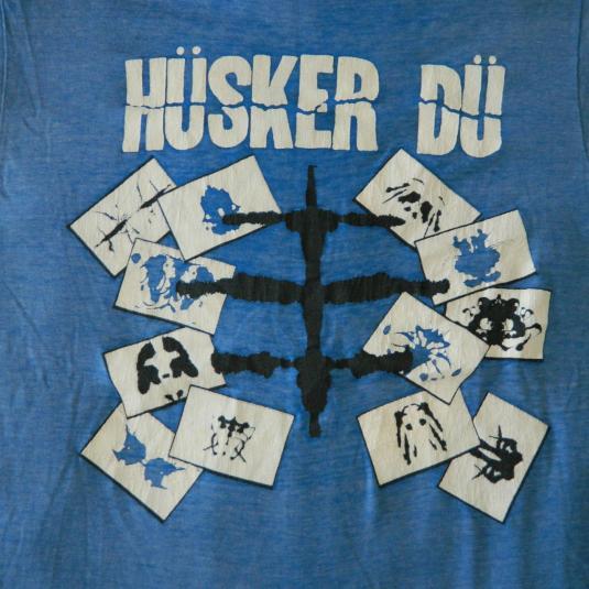 Vintage HUSKER DU 1983 EVERYTHING FALLS APART PROMO T-SHIRT