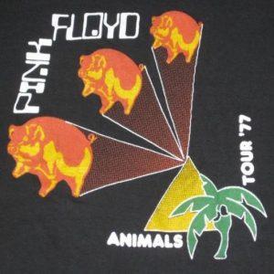vintage PINK FLOYD 1977 ANIMALS TOUR T-Shirt concert 70s