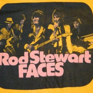 Vintage THE FACES 70S ROD STEWART T-Shirt tour concert small