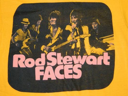 Vintage THE FACES 70S ROD STEWART T-Shirt tour concert small