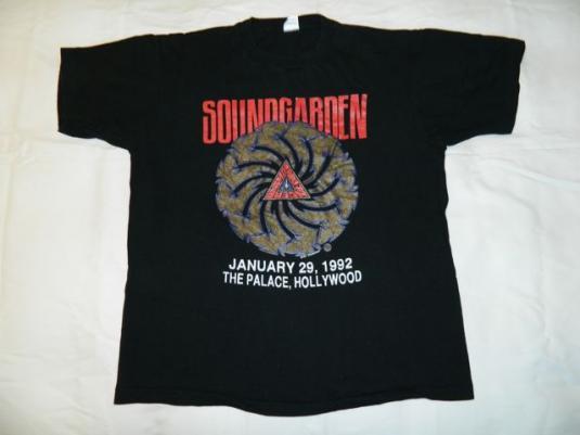 Rare SOUNDGARDEN KNAC JAN 29, 1992 Concert T-Shirt Vintage