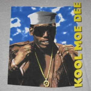 vintage KOOL MOE DEE 80S T-Shirt promo hip hop rap