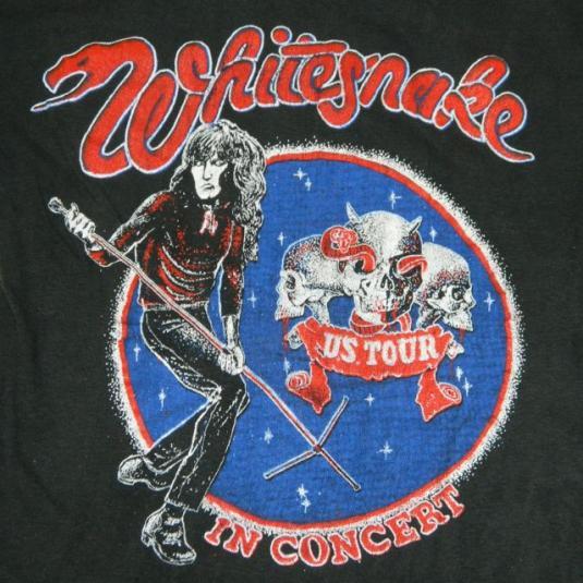 Vintage WHITESNAKE TOUR T-Shirt late 70s – early 80s concert