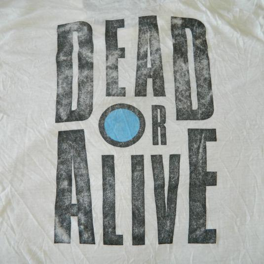 Vintage DEAD OR ALIVE 1985 YOUTHQUAKE T-SHIRT 80S PETE BURNS