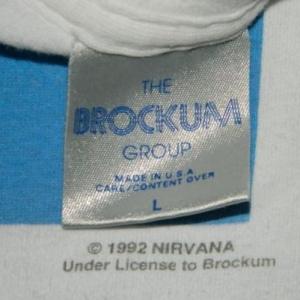 Vintage NIRVANA NEVERMIND 1992 TOUR T-Shirt Kurt Cobain
