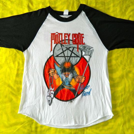 Vintage MOTLEY CRUE 1985 THEATRE OF PAIN TOUR JERSEY T-SHIRT