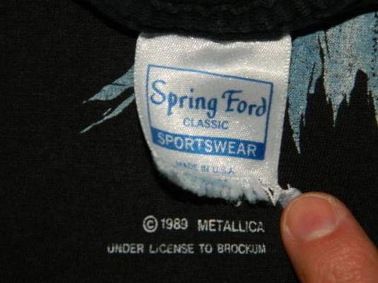 Vintage Metallica 1989 Pushead T-Shirt Spring Ford 50/50 XL