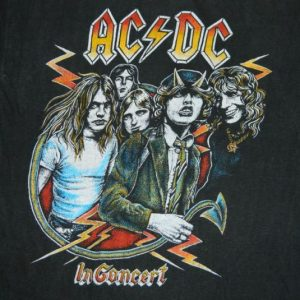 vintage AC/DC 1979 HIGHWAY TO HELL CONCERT T-Shirt tour 70s