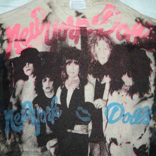Vintage 80S NEW YORK DOLLS MOSQUITOHEAD T-Shirt