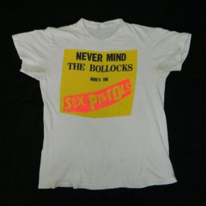 Vintage SEX PISTOLS 80S NEVER MIND THE BOLLOCKS T-Shirt