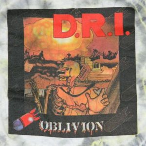 vintage DIRTY ROTTEN IMBECILES 1987 TOUR T-Shirt D.R.I.