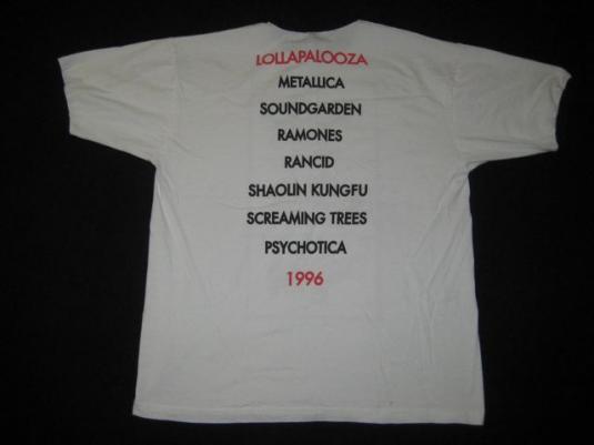 vintage LOLLAPALOOZA METALLICA RAMONES 1996 CONCERT T-Shirt