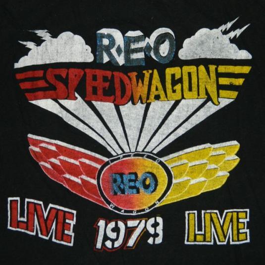 Vintage 1979 REO SPEEDWAGON Tour T-Shirt 70s concert