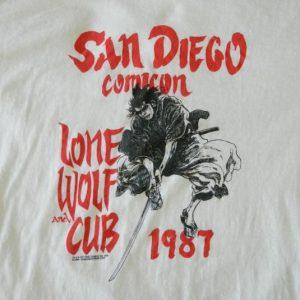 Vintage 1987 COMICON T-Shirt LONE WOLF AND CUB Manga 80s