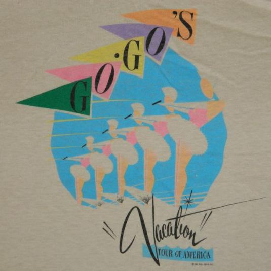 Vintage GO-GO'S 1982 VACATION Tour T-Shirt nos Small