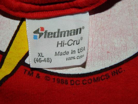 Vintage THE FLASH 1988 DC COMICS T-SHIRT 80S ORIGINAL TEE