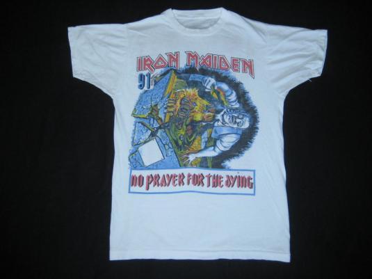 vintage IRON MAIDEN ANTHRAX 1991 TOUR T-Shirt concert