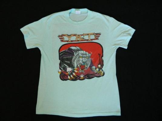 Vintage Y&T 1987 Contagious Tour T-Shirt 80s Concert