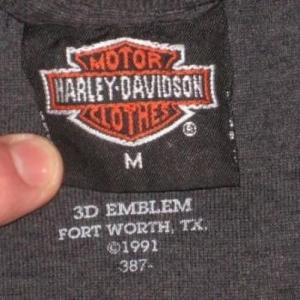 vintage HARLEY DAVIDSON 3D EMBLEM PANTHER T-Shirt Soft Thin