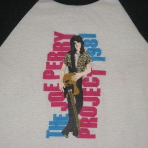 vintage THE JOE PERRY PROJECT 1981 TOUR T-Shirt aerosmith