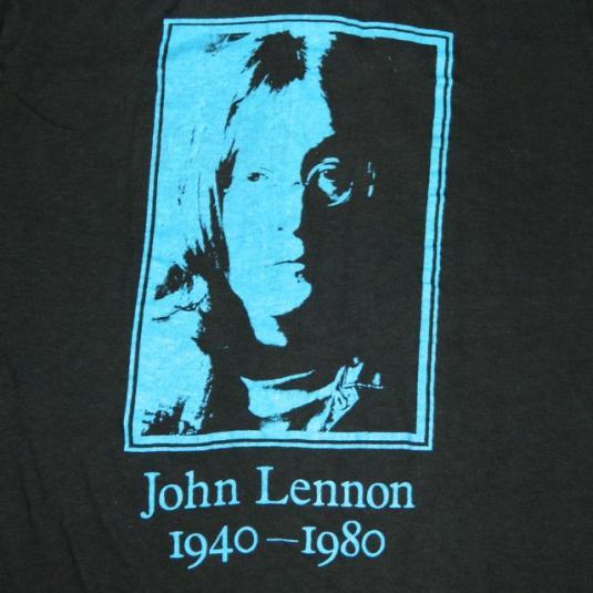 Vintage JOHN LENNON 1980 T-Shirt 80s the beatles