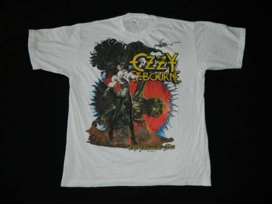 Vintage OZZY OSBOURNE 1986 ULTIMATE SIN TOUR T-Shirt 80s