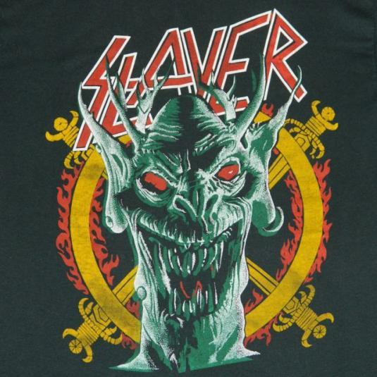 Vintage SLAYER South Of Heaven 80s T-shirt tour concert