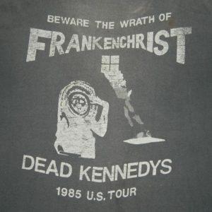 Vintage DEAD KENNEDYS 1985 FRANKENCHRIST TOUR T-Shirt 80s