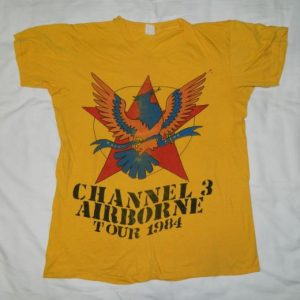 Vintage RARE! CHANNEL 3 1984 TOUR T-Shirt PUNK ROCK CH3