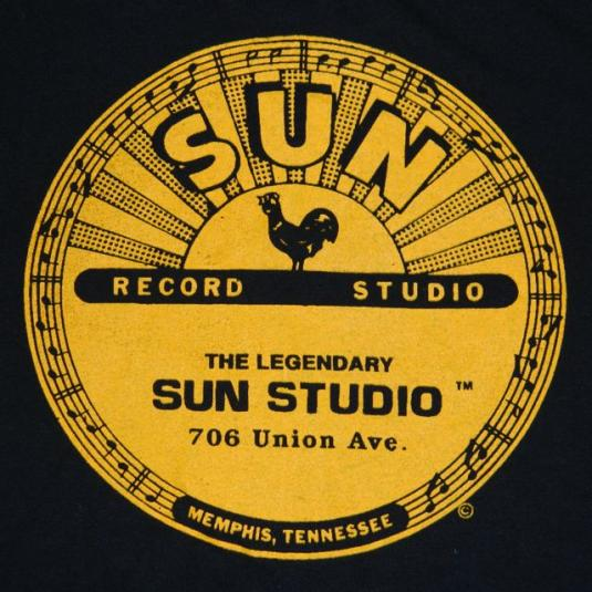 Vintage SUN STUDIO RECORDS 80s T-Shirt NOS elvis presley