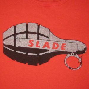 vintage SLADE 1981 CHEAPSKATE RECORDS T-Shirt 80s