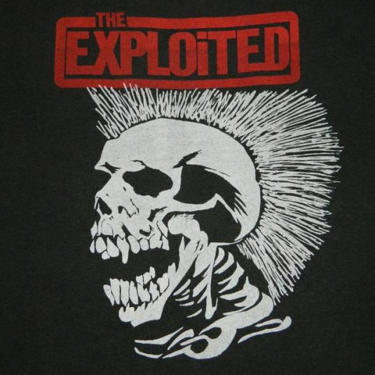 vintage THE EXPLOITED 80s LETS START A WAR T-Shirt