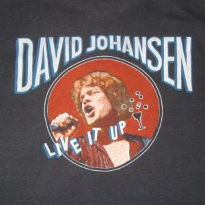 vintage DAVID JOHANSEN 1982 TOUR T-Shirt New York Dolls 80s