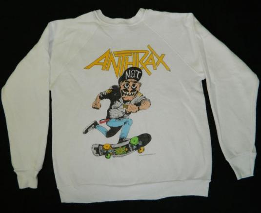 Vintage ANTHRAX 1987 MOSH IT UP! SWEATSHIRT t-shirt tour