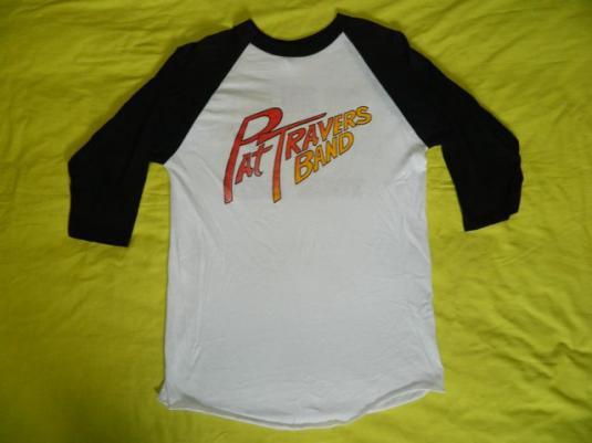 Vintage PAT TRAVERS BAND 1987 Tour JERSEY T-Shirt concert