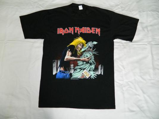 Vintage NOS IRON MAIDEN NY NEW YORK CONCERT T-Shirt tour