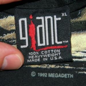 Vintage NOS MEGADETH COUNTDOWN TO EXTINCTION TOUR T-Shirt