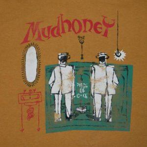 Vintage MUDHONEY 90S PIECE OF CAKE T-Shirt tour concert