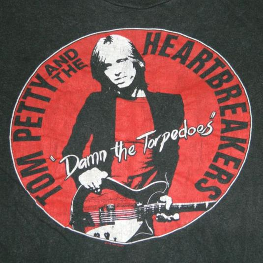 Vintage 1979 TOM PETTY DAMN THE TORPEDOES PROMO T-SHIRT 70s