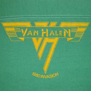 Vintage VAN HALEN SHOWCO 1980 INVASION CONCERT T-Shirt 80s