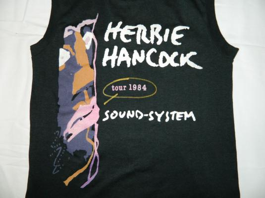 Vintage HERBIE HANCOCK 1984 TOUR T-Shirt SOUND-SYSTEM