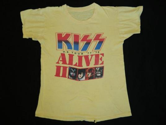 Vintage KISS 1977-1978 ALIVE II TOUR T-Shirt 70s concert